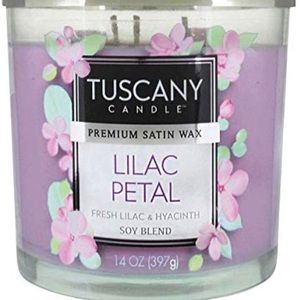 2 NEW Tuscany Candle 14 Oz Lilac Petal Candles
